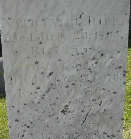 RICE, NATHANIEL - Middlesex County, Massachusetts | NATHANIEL RICE - Massachusetts Gravestone Photos