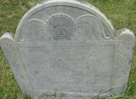 RICE, SARAH - Middlesex County, Massachusetts | SARAH RICE - Massachusetts Gravestone Photos