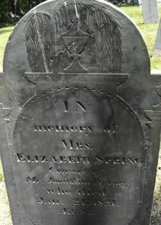 SPRING, ELIZABETH - Middlesex County, Massachusetts   ELIZABETH SPRING - Massachusetts Gravestone Photos