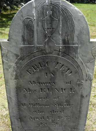 SPRING, EUNICE - Middlesex County, Massachusetts | EUNICE SPRING - Massachusetts Gravestone Photos
