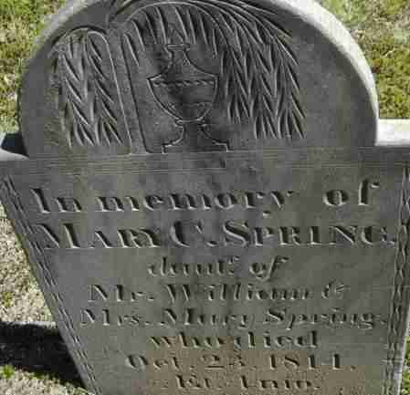 SPRING, MARY C - Middlesex County, Massachusetts | MARY C SPRING - Massachusetts Gravestone Photos