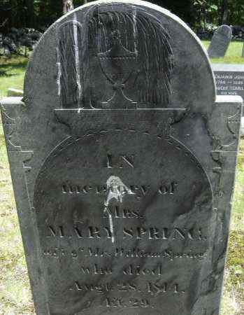 SPRING, MARY - Middlesex County, Massachusetts | MARY SPRING - Massachusetts Gravestone Photos