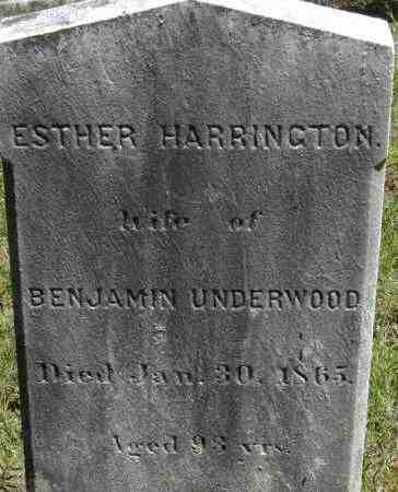 UNDERWOOD, ESTHER - Middlesex County, Massachusetts | ESTHER UNDERWOOD - Massachusetts Gravestone Photos