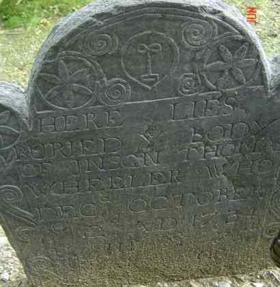 WHEELER, THOMAS - Middlesex County, Massachusetts | THOMAS WHEELER - Massachusetts Gravestone Photos