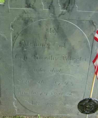 WHEELER, TIMOTHY - Middlesex County, Massachusetts | TIMOTHY WHEELER - Massachusetts Gravestone Photos