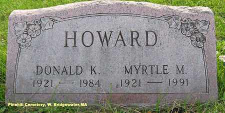 HOWARD, MYRTLE - Plymouth County, Massachusetts | MYRTLE HOWARD - Massachusetts Gravestone Photos