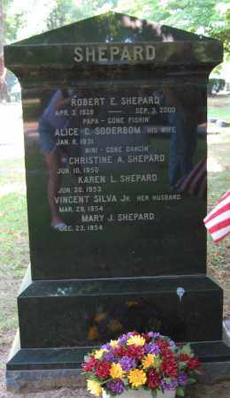 SHEPARD, CHRISTINE - Plymouth County, Massachusetts | CHRISTINE SHEPARD - Massachusetts Gravestone Photos