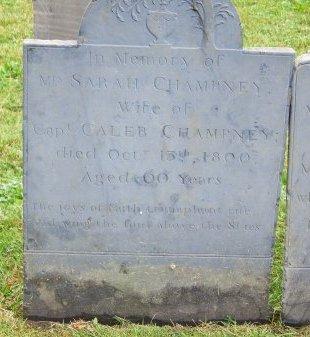 CHAMPNEY, SARAH - Suffolk County, Massachusetts | SARAH CHAMPNEY - Massachusetts Gravestone Photos