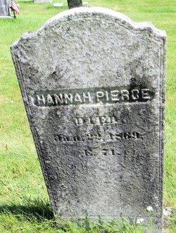 PIERCE, HANNAH - Worcester County, Massachusetts | HANNAH PIERCE - Massachusetts Gravestone Photos