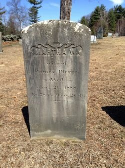 PIERCE, MARTHA W, - Worcester County, Massachusetts   MARTHA W, PIERCE - Massachusetts Gravestone Photos
